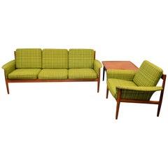 Vintage Grete Jalk Danish Design Teak Sofa Group