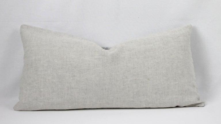 Vintage Grey Batik Style Pillow For Sale 2