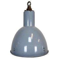 Vintage Grey Enamel Industrial Bauhaus Lamp, 1950s