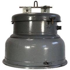Vintage Grey Enamel Industrial Lamp