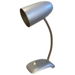 Vintage Grey Gooseneck Table Lamp, 1950s