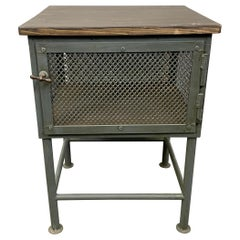 Vintage Grey Industrial Worktable