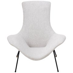Vintage Grey Lounge Chair by Augusto Bozzi for Fratelli Saporiti