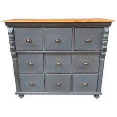 Vintage Grey Storage Cabinet