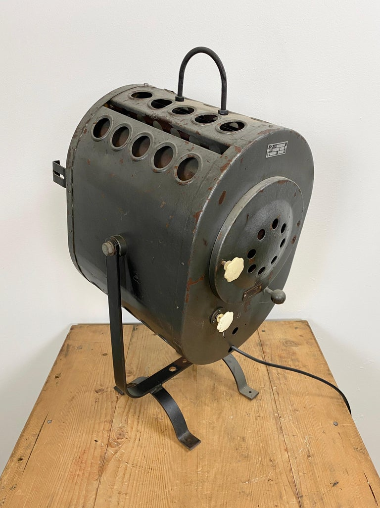 Industrial Vintage Grey Theater Spotlight, 1960s For Sale