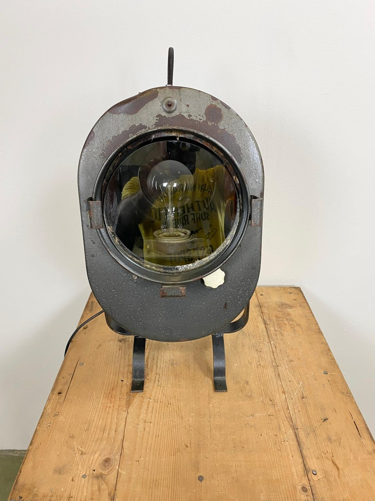 20th Century Vintage Grey Theater Spotlight, 1960s For Sale