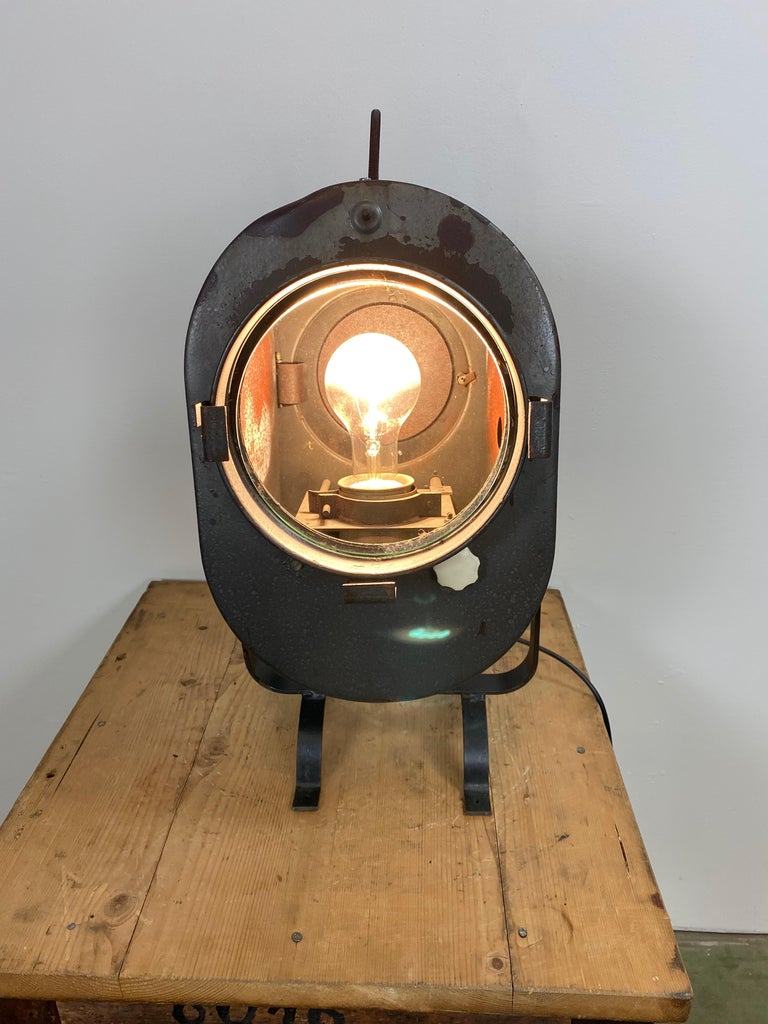 Vintage Grey Theater Spotlight, 1960s For Sale 1