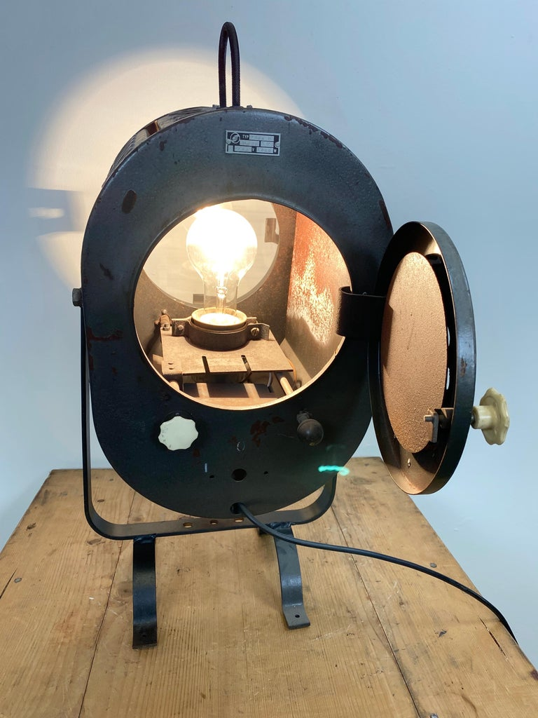 Vintage Grey Theater Spotlight, 1960s For Sale 2