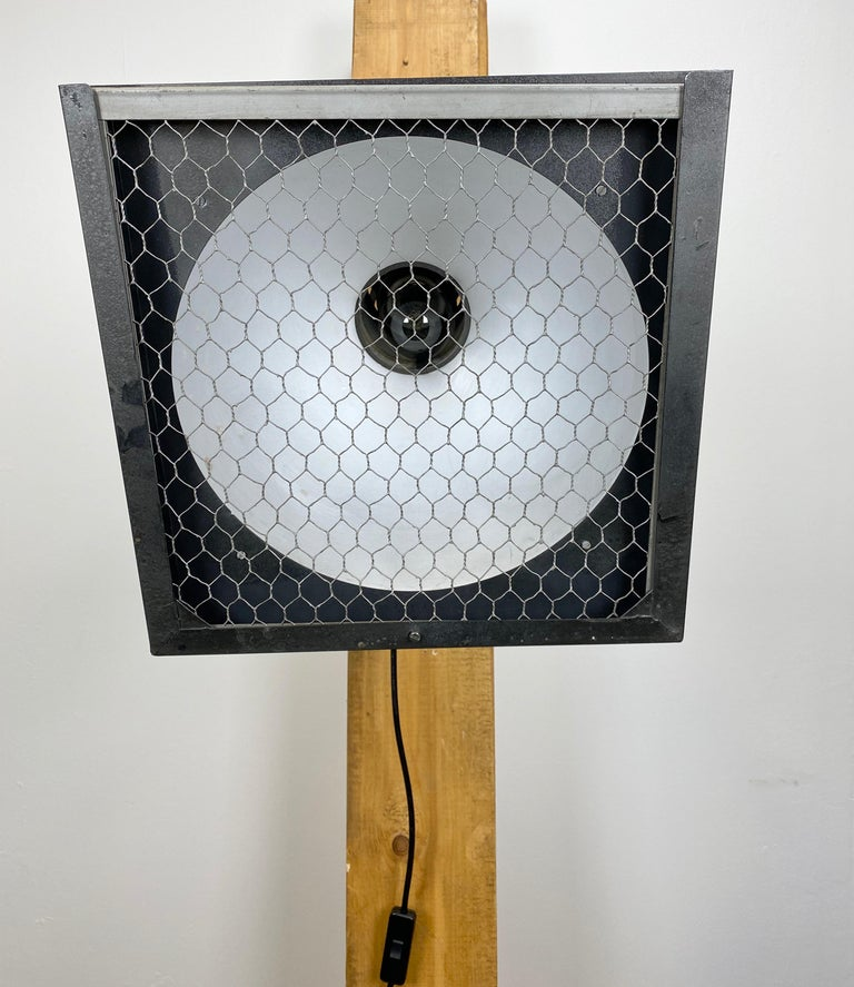 20th Century  Vintage Grey Theatre Wall or Ceiling Spotlight, 1960s For Sale