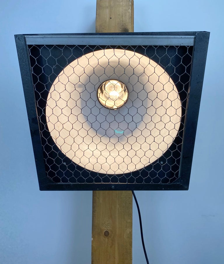 Iron  Vintage Grey Theatre Wall or Ceiling Spotlight, 1960s For Sale