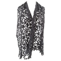Vintage grey wool scarf