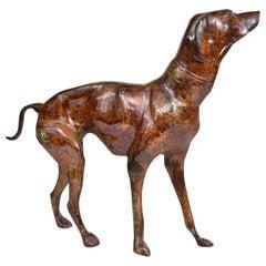 Vintage Greyhound or Whippet Bronze Sculpture Medium