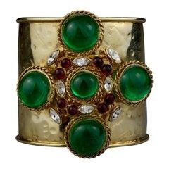 Vintage Gripoix Byzantine Haute Couture Cuff Bracelet
