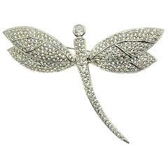 Vintage Grossé Crystal Dragonfly Brooch 1980s