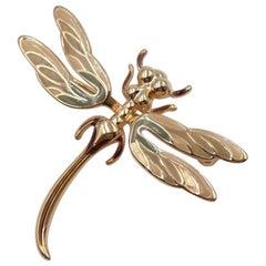 Vintage Grosse Enamel Dragonfly Brooch 1960's
