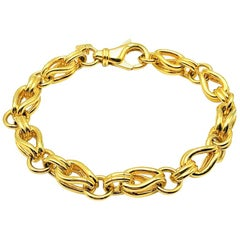 Vintage Grossé Gold Fancy Link Bracelet 1980s