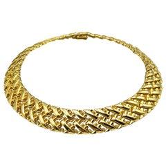 Vintage Grosse Gold Herringbone Style Collar 1971