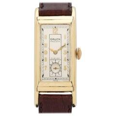 Vintage Gruen Curvex 14 Karat Yellow Gold Filled Watch, 1936