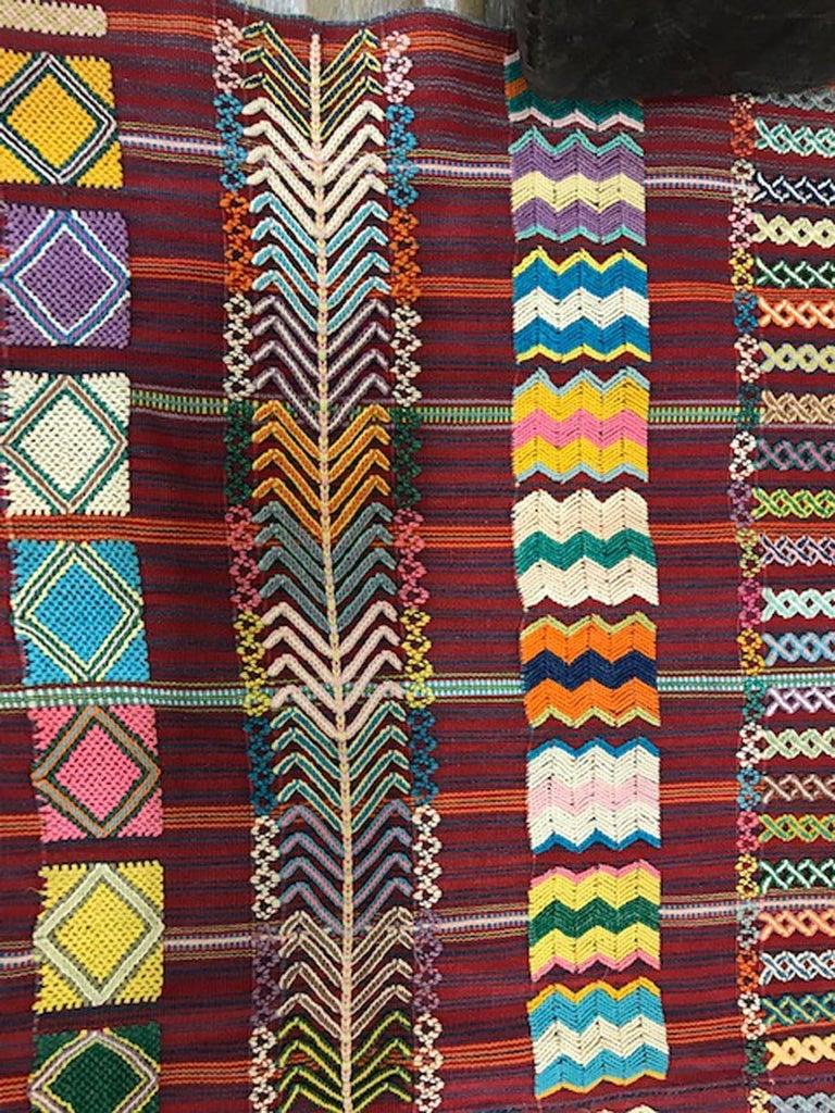 Vintage Guatemalan Fabric Cort\u00e9s skirt 100/% cotton Mayan textile  Ikat dyed 168x28+5 Textile Fabric  circa 1990/'s ikat dyed