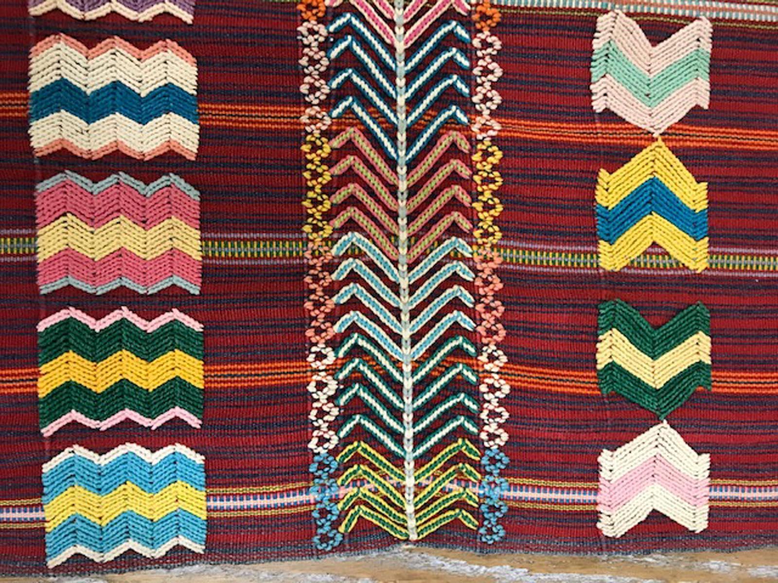 Vintage Guatemalan Fabric Cort\u00e9s skirt 100/% cotton Mayan textile  Ikat dyed 116x29 Textile Fabric  circa 1990/'s ikat dyed