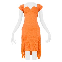 Vintage Gucci by Tom Ford Orange Silk Cocktail Dress  Runway 2004