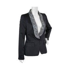 Vintage Gucci Crystal Embellished Black Blazer