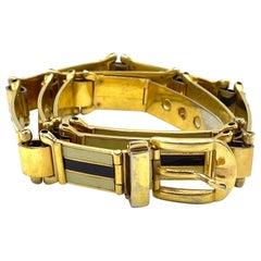 Vintage Gucci Enamel Belt