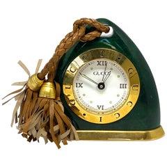 Vintage Gucci Green Alarm Desk Clock w/ Box