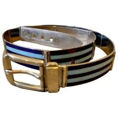 Vintage Gucci Metal Enamel Belt