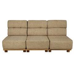 Vintage Guillerme et Chambron Modular Sofa, France, 1960s