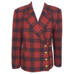 Vintage Guy Laroche checked print Jacket