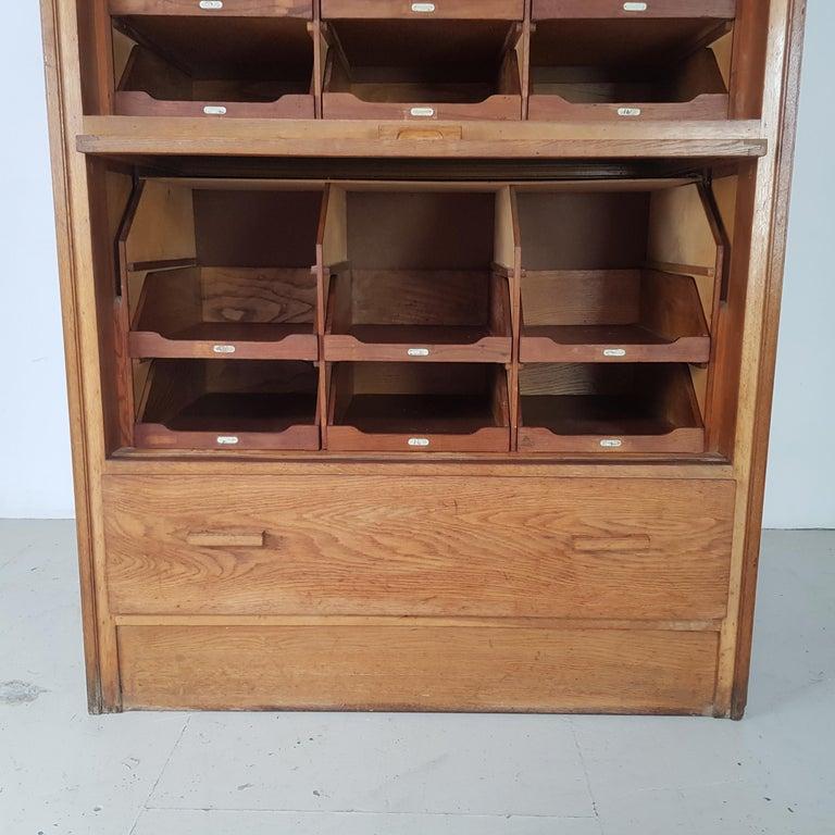 Vintage Haberdashery Cabinet Shop Display For Sale 4