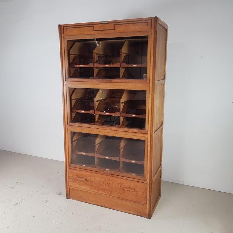 English Vintage Haberdashery Cabinet Shop Display For Sale