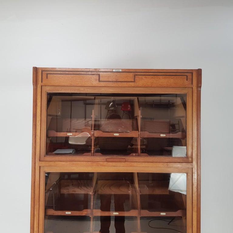 Oak Vintage Haberdashery Cabinet Shop Display For Sale