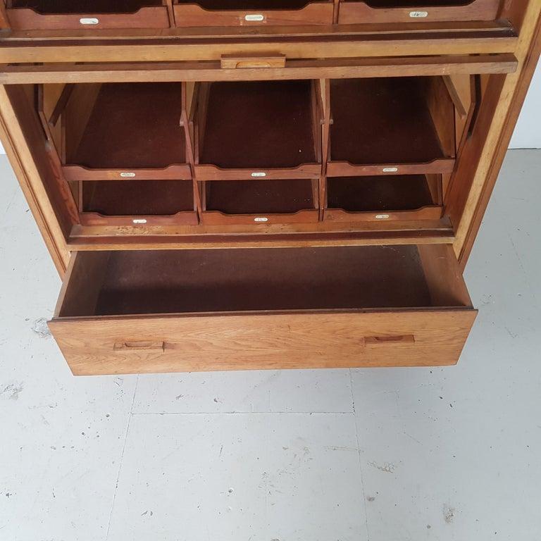 Vintage Haberdashery Cabinet Shop Display For Sale 3