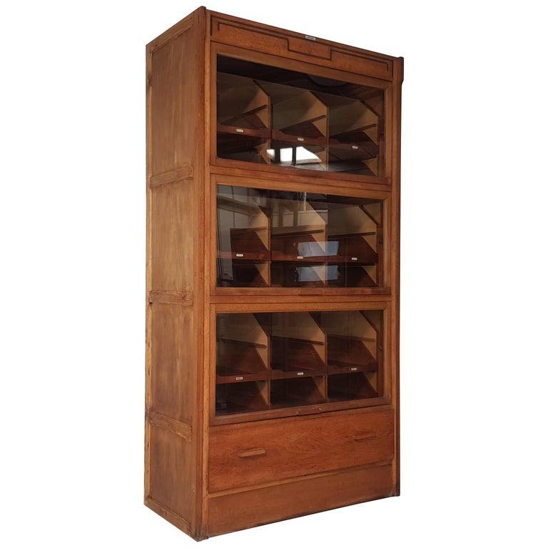 Vintage Haberdashery Cabinet Shop Display For Sale