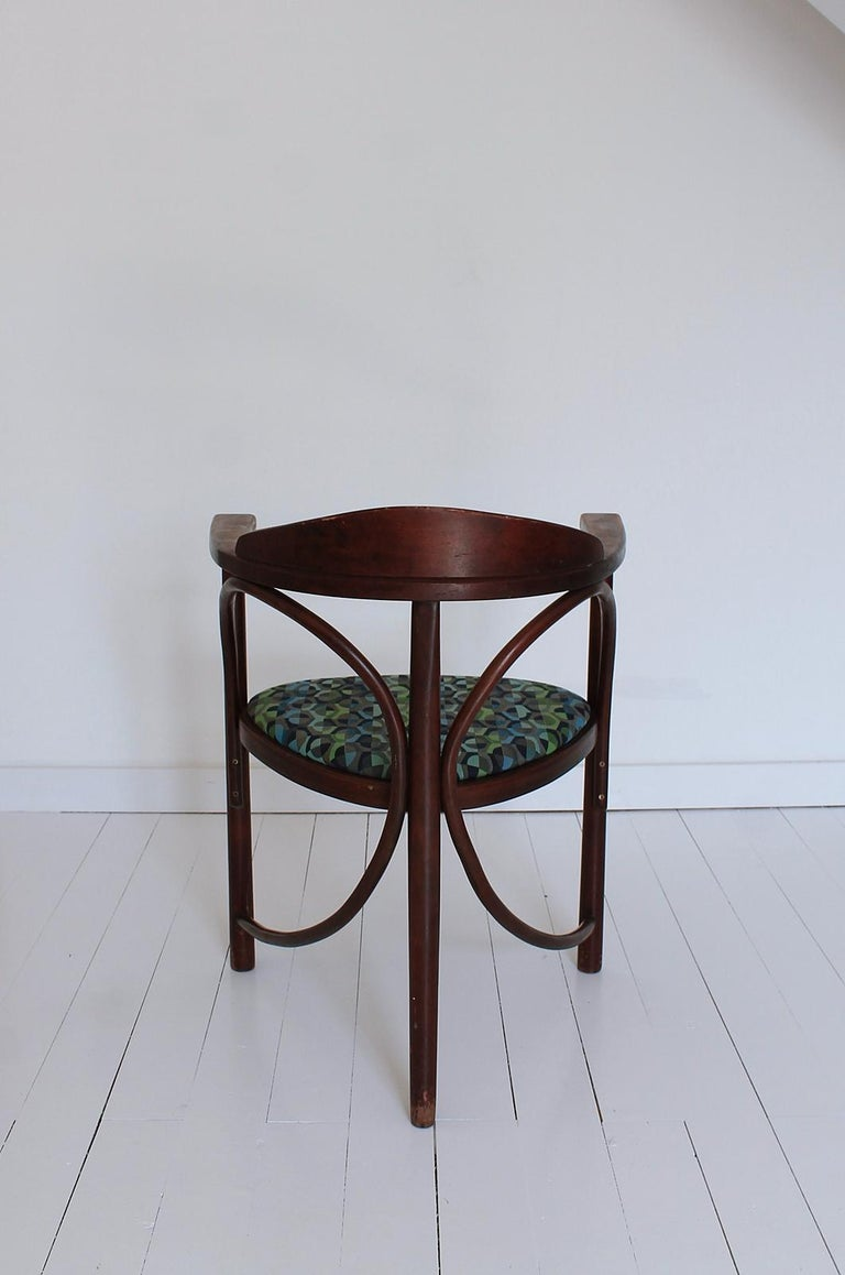 Stained Vintage HajduThonet Desk chair No 81 Rondo 1980 Hungary For Sale