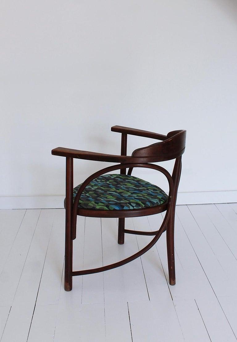 Vintage HajduThonet Desk chair No 81 Rondo 1980 Hungary In Good Condition For Sale In Debrecen-Pallag, HU