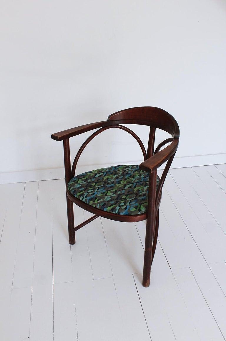 Beech Vintage HajduThonet Desk chair No 81 Rondo 1980 Hungary For Sale