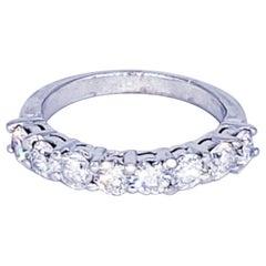 Vintage Half Eternity 1.68 Carat Diamond Wedding Engagement Ring 14 Karat Gold