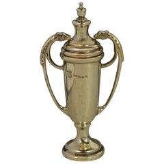 Vintage Hallmarked Solid 9 Carat Gold Trophy Cup