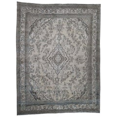 Vintage Hamadan with Grey and Blue Hand Knotted Oriental Rug