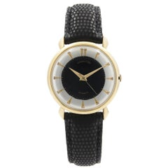 Vintage Hamilton 10k Gold Filled Steel Black Silver Dial Automatic Mens Watch