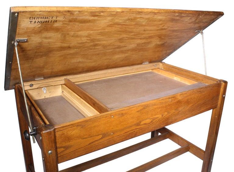Vintage Hamilton Draftsman's Desk/Table For Sale 5