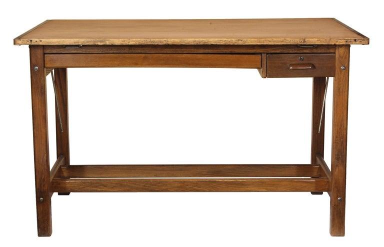 Vintage oak Hamilton drafting table/desk.