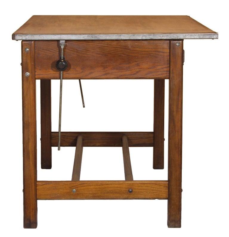 Industrial Vintage Hamilton Draftsman's Desk/Table For Sale