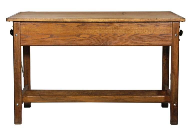 American Vintage Hamilton Draftsman's Desk/Table For Sale