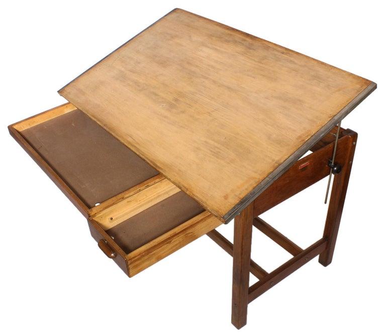 20th Century Vintage Hamilton Draftsman's Desk/Table For Sale