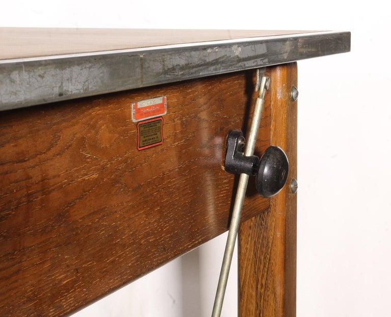 Vintage Hamilton Draftsman's Desk/Table For Sale 2