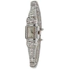Vintage Hamilton Platinum and Diamond Ladies Watch